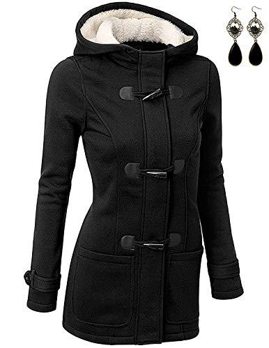 BUOYDM Abrigos para Mujer Casual Sudadera con Capucha Chaqueta Jacket Pullover Outwear para Primavera...
