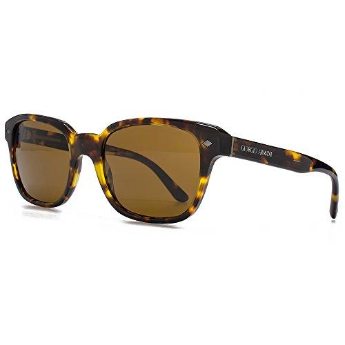 Giorgio Armani Montures de lunettes de soleil vie classique carré à la  Havane jaune AR8067 509253 721c193bc03f