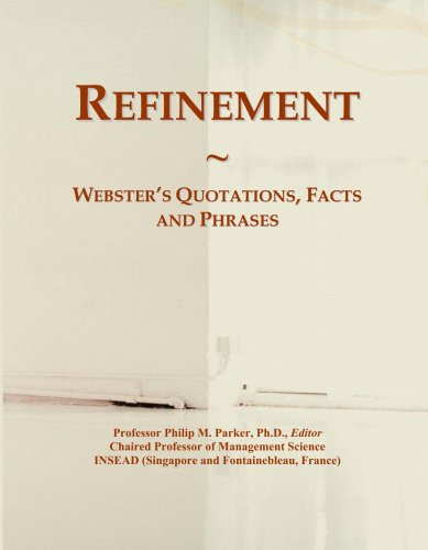 Refinement: Webster's Quotations, Facts and Phrases PDF Books