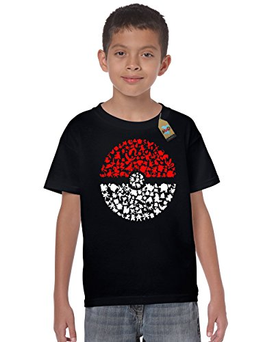 Gotta Catch Em All Pokemon Inspired Kids T Shirt, Size 9-11 Years