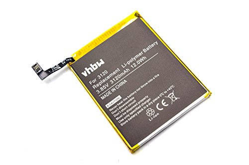 Vhbw Litio polímero batería 3120mAh 3.85V móvil