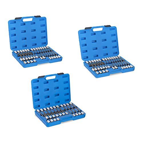 """MSW Motor Technics Bit Set Bitsatz MSW-XZN12-1/2\"""" (3 Schlüsselarten: HEX, TORX und XZN, 88-teilig, 4 Längen mit max. 200 mm, 3 Werkzeugkoffer) Chrom-Vanadium-Stahl"""