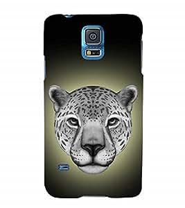 Nextgen Designer Mobile Skin for Samsung Galaxy S5 Neo :: Samsung Galaxy S5 Neo G903F :: Samsung Galaxy S5 Neo G903W (Cheetah Cheetah Eyes Fiery Look Spots Cheetah Face)