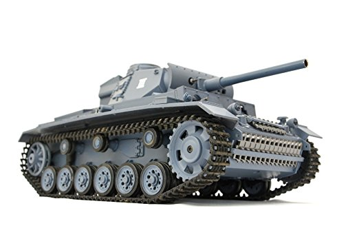 "RC Panzer \""Kampfwagen III\"" 1:16 Heng Long -Rauch&Sound - mit 2,4Ghz Fernsteuerung -V.5.3"