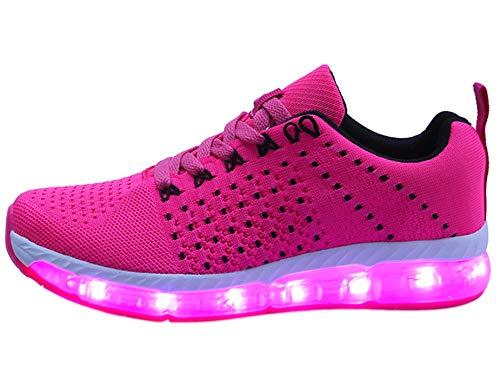 Mr.Ang Damen Herren Turnschuhe Licht Luminous 7 Farben Unisex USB Lade Outdoor Leichtathletik beiläufige Paare Schuhe