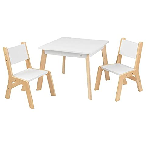 KidKraft Modern Table and 2 Chairs Set,