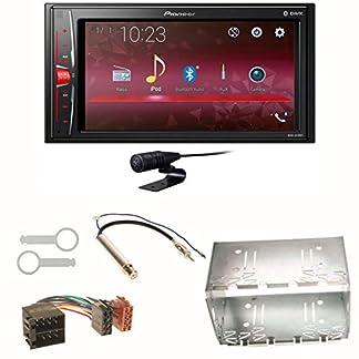 Pioneer-MVH-A210BT-USB-Autoradio-Touchscreen-Bluetooth-Moniceiver-Freisprecheinrichtung-WAV-AUX-AAC-DivX-Einbauset-fr-Golf-4-Passat-Polo-Ibiza-6L