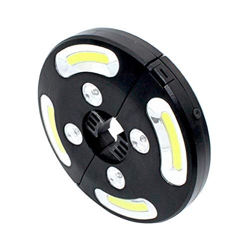 OSALADI COB + Buntes Licht LED High Brightness Umbrella Lamp 500 Lumen Batteriebetrieben -
