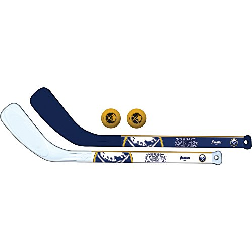 Franklin Sports NHL Team Mini Hockeyschläger 2 Stück Set, unisex, Buffalo Sabres