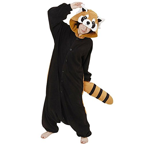 Kigurumi Pyjama Unisexe Adulte Anime Cosplay Halloween Costume Tenue Raton Laveur S