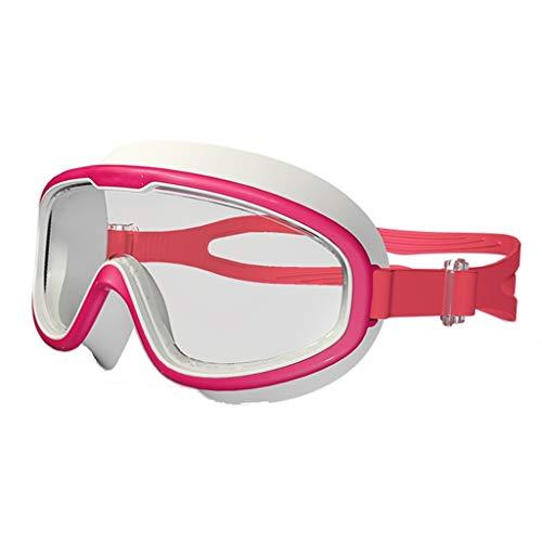 CHMASK Nager Goggle, Haute Définition Anti-buée Imperméable Mode Confortable Ergonomique Lunettes De Plongée Masque pour Enfant Les Enfants Sport d'eau (Couleur : Rose)