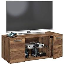 vcm tv lowboard fernseh schrank mobel tisch holz sideboard medien rack bank kern nussbaum 40