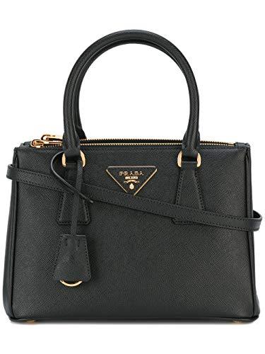 8150b1dfc5390 Prada Damen 1BA896NZVF0002 Schwarz Leder Handtaschen