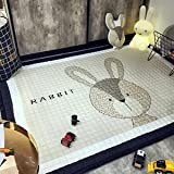 GRENSS Cartoon giraffe Drucken Quilting Mat 145x195x1.5cm Größe Polyester Teppich Salon crawling Matte für Kinder/Kinder, 1018,145 x 195 cm, China