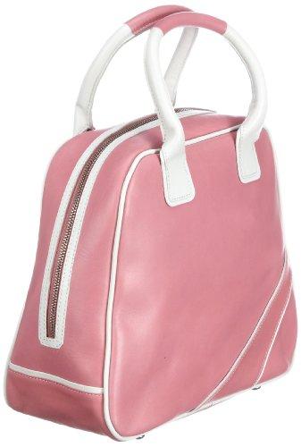 Swedish Hasbeens  Vintage Sport Bag, sacs bandoulière mixte adulte Rose - Pink (Bubble gum pink and white)