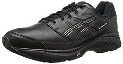 ASICS Mens Gel-Foundation Workplace (4e) Walking Shoe Black/Onyx/Silver 6 4E US