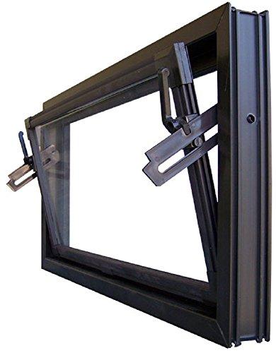 Kellerfenster braun 80 x 40 cm Einfachglas