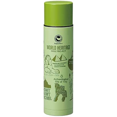 Proyecto Sonrisa frase fija Paz patrimonio mundial botella 500ml delgado de acero verde WH-045 (Jap?n importaci?n / El paquete y el manual est?n escritos en