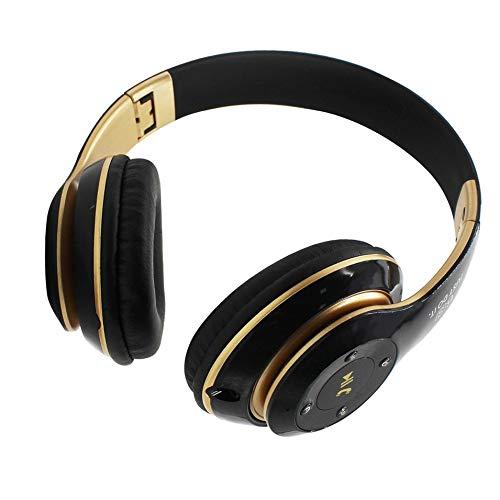 HermosaUKnight Universal-Super-Bass-Wireless-Bluetooth-Over-Ear-Gaming-Kopfhörer-Spiel-Kopfhörer-Schwarz & Gold
