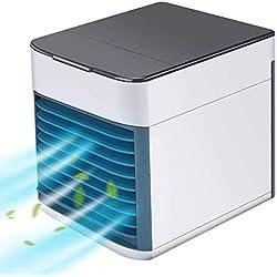 Climatiseur Portable - USB Muitifonction 3 EN 1 Mini Climatiseur Humidificateur Purificateur 7 LED Couleurs pour Maison/Bureau/Camping Puissance