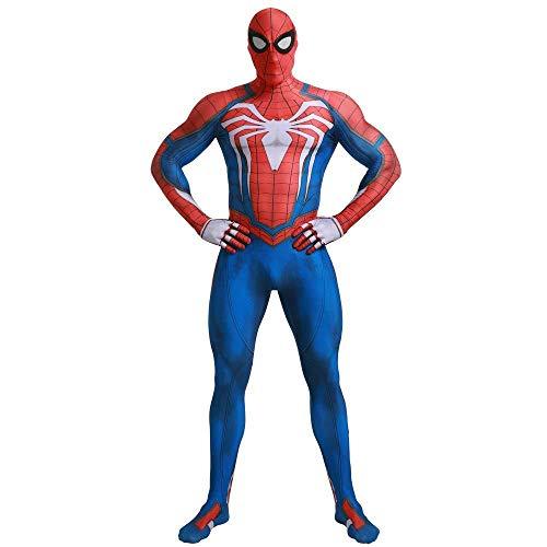 Spiderman Für Erwachsene Body Kostüm - SDFXCV Erwachsene Kinder PS4 Spiderman Kostüm Spandex Zentai Bodys Overalls Spiderman Halloween Kostüme Kostüm Outfit,Kids-L(Height51-54Inch)