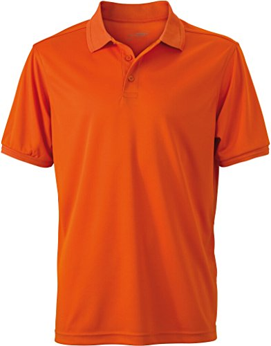 JAMES & NICHOLSON Funktionelles Polo für Freizeit und Sport dark-orange