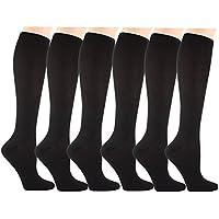 Matchwill 6 Paire Chaussettes de Compression pour Hommes et Femmes - Le Confort est Conçu à l'utilisation Quotidienne, de Fonctionnement Idéal, de Grossesse,de Vol et de Voyage
