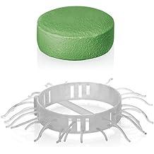 Abfluss-Fee Duftstein Set Dusche 8-tlg. 50g grün ( Apfel-Zitrone 4x Duftstein 4x Haarfänger )