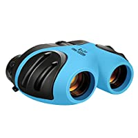 ATOPDREAM TOPTOY Outdoor Toys for 3-12 Year Old Boys Girls, Shockproof Camping Hunting Binoculars for Kids Bird Watching Gifts for 3-12 Year Old Boys Girls Light Blue BL008