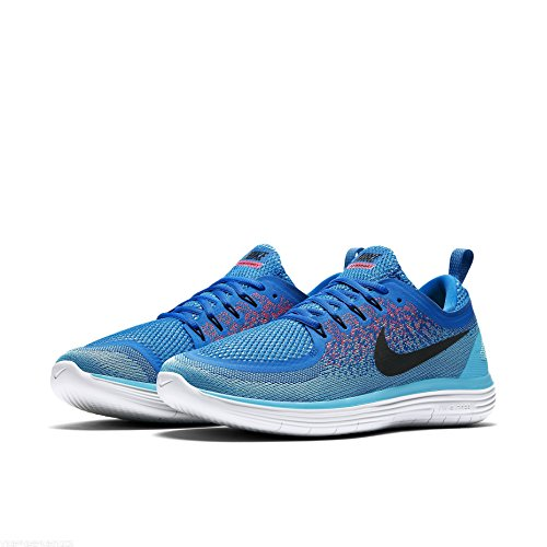 Nike Herren Free RN Distance 2 Laufschuhe 403 SOAR/BLACK-HOT PUNCH-POLAR