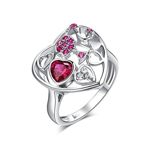 barbie, anello da ragazza e donna, anello rosso, anello moda , anello di squisita fattura #BSJZ047 (16.5)