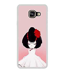 ifasho Girl with Flower in Hair Back Case Cover for Samsung Galaxy A5 (2016)