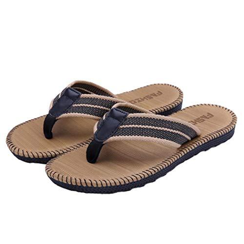 1 di accoppiamenti di Estate Uomini Infradito e della Spiaggia delle Donne Pistoni degli Uomini Sandali Punta della Clip Trascinare Gli Uomini di Scarpe Taglia 42