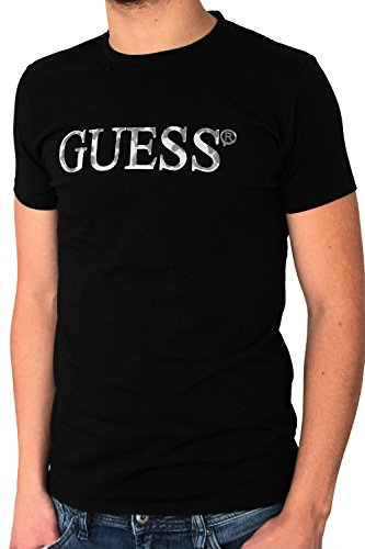 t-shirt-guess-homme-manches-courtes-noir