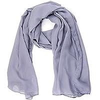 ManuMar Schal für Damen   feines Hals-Tuch in Unisex-Farben Uni-farben als perfektes Sommer-Accessoire   Das ideale Geschenk für Frauen