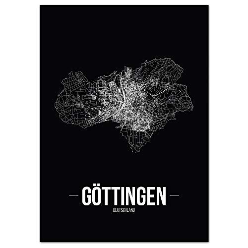JUNIWORDS Stadtposter - Wähle Deine Stadt - Göttingen - 40 x 60 cm Poster - Schrift B - Schwarz