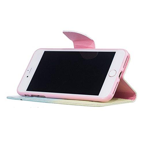 iPhone 7 Plus Coque, Apple iPhone 7 Plus Coque, Lifeturt [ Papillon ] [book-style] Flip Case Coque en PU Cuir Housse de Protection Étui à rabat Case Cover Ultra Slim Portefeuille PU Cuir avec stand de E02-plumes et oiseaux4841