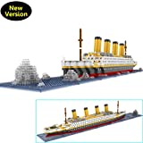 OneNext The Tianic Ship Model Building Block Set 1900pcs - Nano Micro Mini Blocks DIY Toys(With Useful Tools and Original Box Best For Gift)