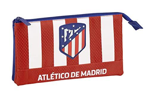 Atlético Madrid Estuche portatodo Triple Escolar
