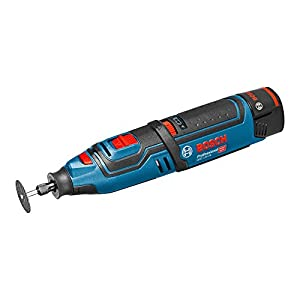 Bosch Professional Akku-Rotationswerkzeug GRO 12 V-35 (2 x 2,0 Ah Akku, Schnellladegerät, Trennscheibe, Leerlaufdrehzahl: 5,000 – 35,000 min-1, 12 Volt System, L-Boxx)