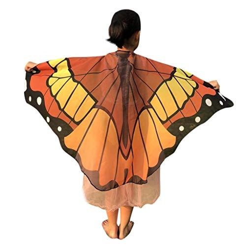 (Quaan Halloween Kinder Karikatur Schmetterling Drucken Flügel Schals Poncho Kostüm Zubehörteil schön Gift niedlich Kostüme Vampir Dracula Kapuze Cape schwarz Horrorkostüm Vampirkapskinder)