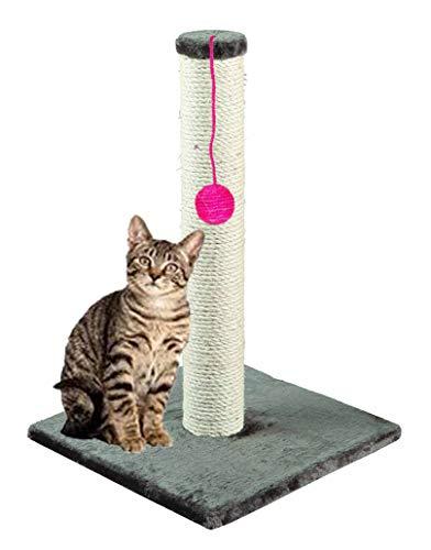 St@llion 60x 40cm Quadrato a Forma di Gatto graffiare sisal Centro Arrampicata Torre Gioco per Gatto Giocattolo Palla