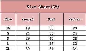 YiJee Mignon Vêtements pour Chien Doux Rayure Animaux Gilet Chiot Marine T-shirt