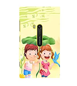 Fuson Designer Back Case Cover for Nokia Lumia 920 :: Micosoft Lumia 920 (Love Couple Love Pair Girl And Boy In Love)
