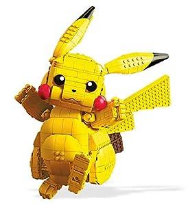 Mega Construx Pokemon Figura Jumbo Pikachu, Juguetes de Construcción Niños +8 Años (Mattel FVK81)