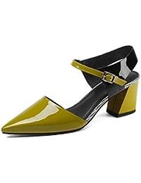 QIN&X Sandales Femmes à Bride Talon Plat Chaussures,41,L'Abricot
