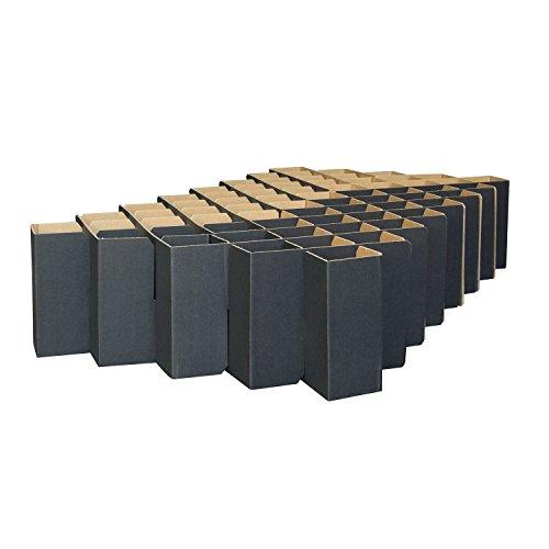 ROOM IN A BOX | Bett 2.0 S/S: Nachhaltiges Klappbett aus Wellpappe in der Größe 90 x 200 cm und alle Zwischengrößen. Ideal auch als praktisches Gästebett, da leicht verstaubar und ein Lattenrost nicht benötigt wird.