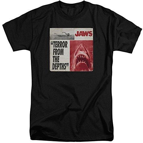 Jaws Herren T-Shirt Schwarz