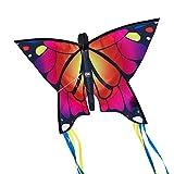 CIM Leichtwind Schmetterling Drachen - Butterfly PINK - Einleiner Flugdrachen für Kinder ab 3 Jahren - 58x40cm - inkl. 20m Drachenschnur - fertig aufgebaut -...