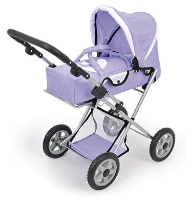 Bayer muñecas lila de la silla de paseo con bolsa de puerta y manija ajustable 77 x 76 x 38 cm (ss12) por BAYER DESIGN